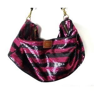 PINK Victoria's Secret Pink & Black Duffel Bag